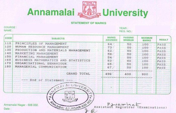 dde annamalai university mba hrm 347 1st year assignment Comments transcription evaluative report of the departments.